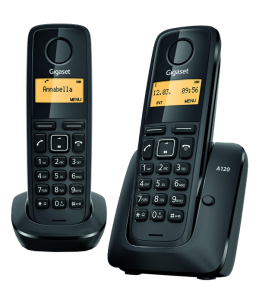 Teléfono Gigaset A120 Dúo Negro