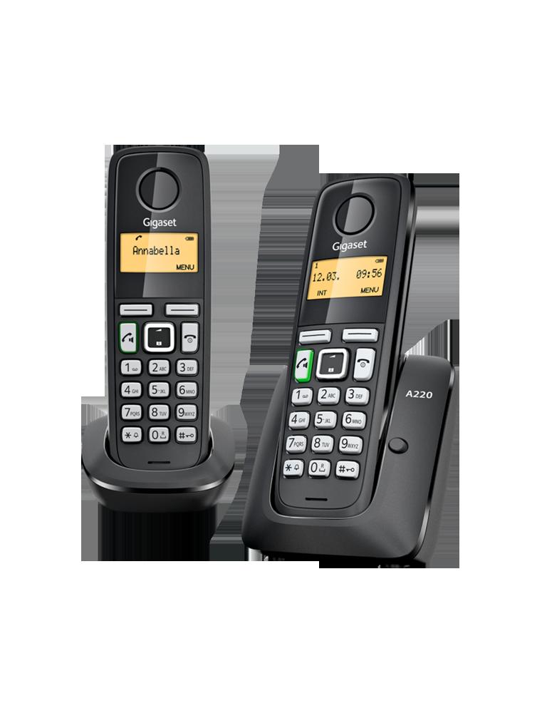 Teléfono Gigaset A220 Dúo Negro