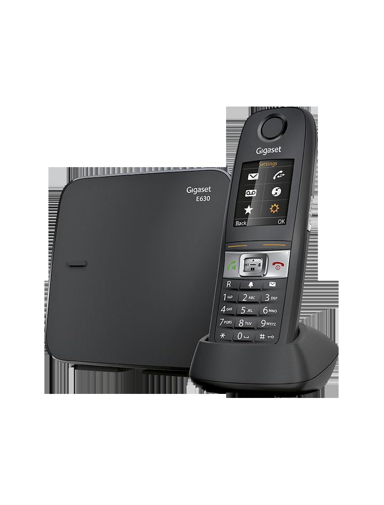 Tel fono inal mbrico dect gigaset e630 resistente ip65 negro for Telefono 1210