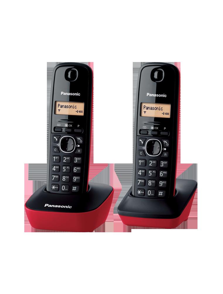 Panasonic KX-TG1612SPR Dúo - Negro/Rojo