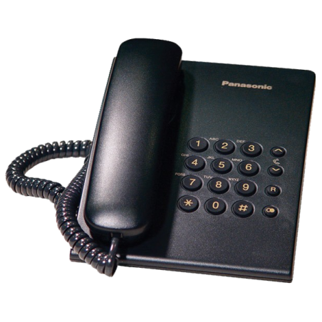 Teléfono Panasonic KX-TS500 Negro