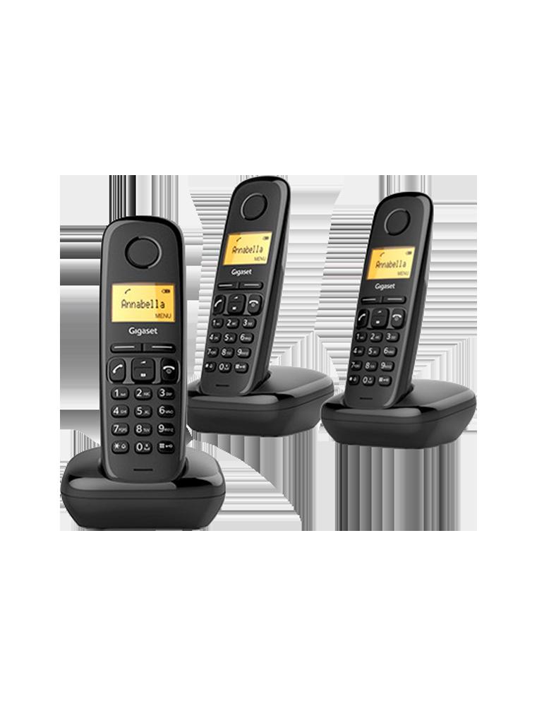 Teléfono Gigaset A170 Trío Negro