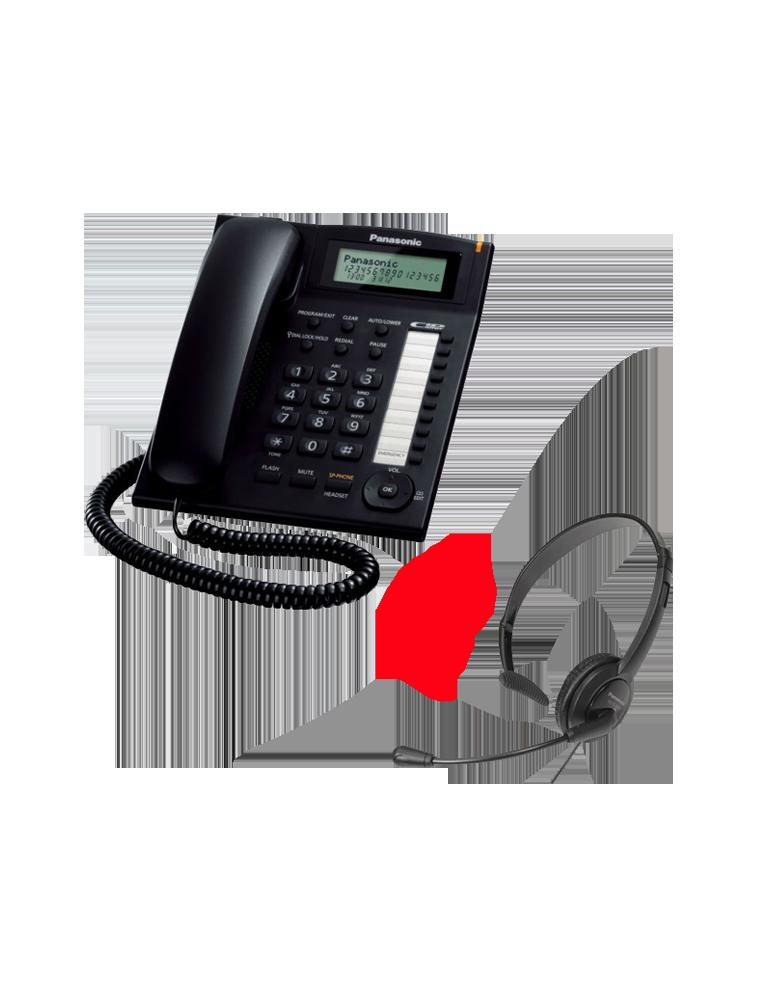 Teléfono Panasonic KX-TS880EXB + Auricular Panasonic TCA400