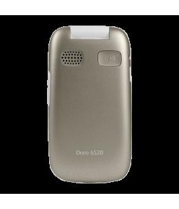 Teléfono Doro 6520 plegado - Champagne/Blanco