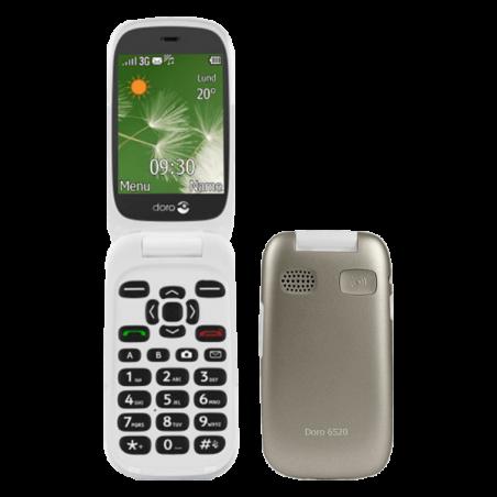 Teléfono Doro 6520 Champagne/Blanco