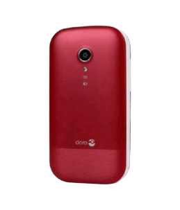 Teléfono Doro 2404 Rojo/Blanco