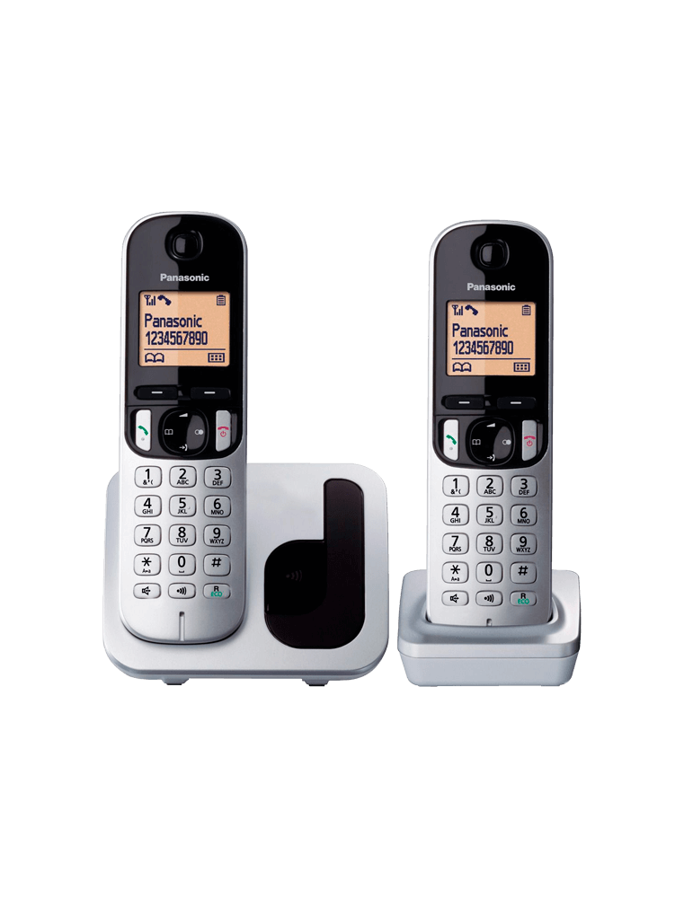 Teléfono Panasonic KX-TGC212 Gris plata/negro Dúo