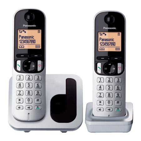 Teléfono Panasonic KX-TGC212SPS Dúo Gris plata/negro