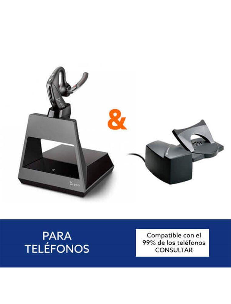 Auricular Poly Voyager 5200 Office + Descolgador HL10