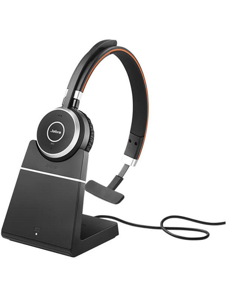 Auricular Jabra Evolve 65 MS USB Mono + Base Cargadora