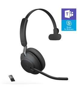 Auricular Jabra Evolve2 65 USB-A MS Mono Negro
