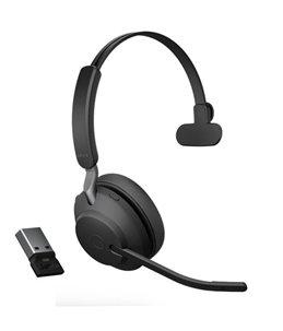 Auricular Jabra Evolve2 65 USB-A UC Mono Negro
