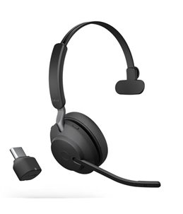 Auricular Jabra Evolve2 65 USB-C UC Mono Negro
