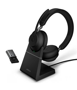 Auricular Jabra Evolve2 65 USB-C MS Mono con Base