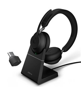Auricular Jabra Evolve2 65 USB-C UC Estéreo Negro + Base de Carga
