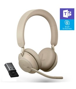Auricular Jabra Evolve2 65 USB-A MS Estéreo Beige