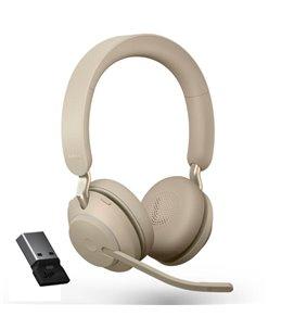 Auricular Jabra Evolve2 65 USB-A UC Estéreo Beige