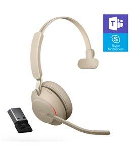 Auricular Jabra Evolve2 65 USB-A MS Mono Beige