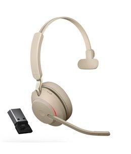Auricular Jabra Evolve2 65 USB-A UC Mono Beige