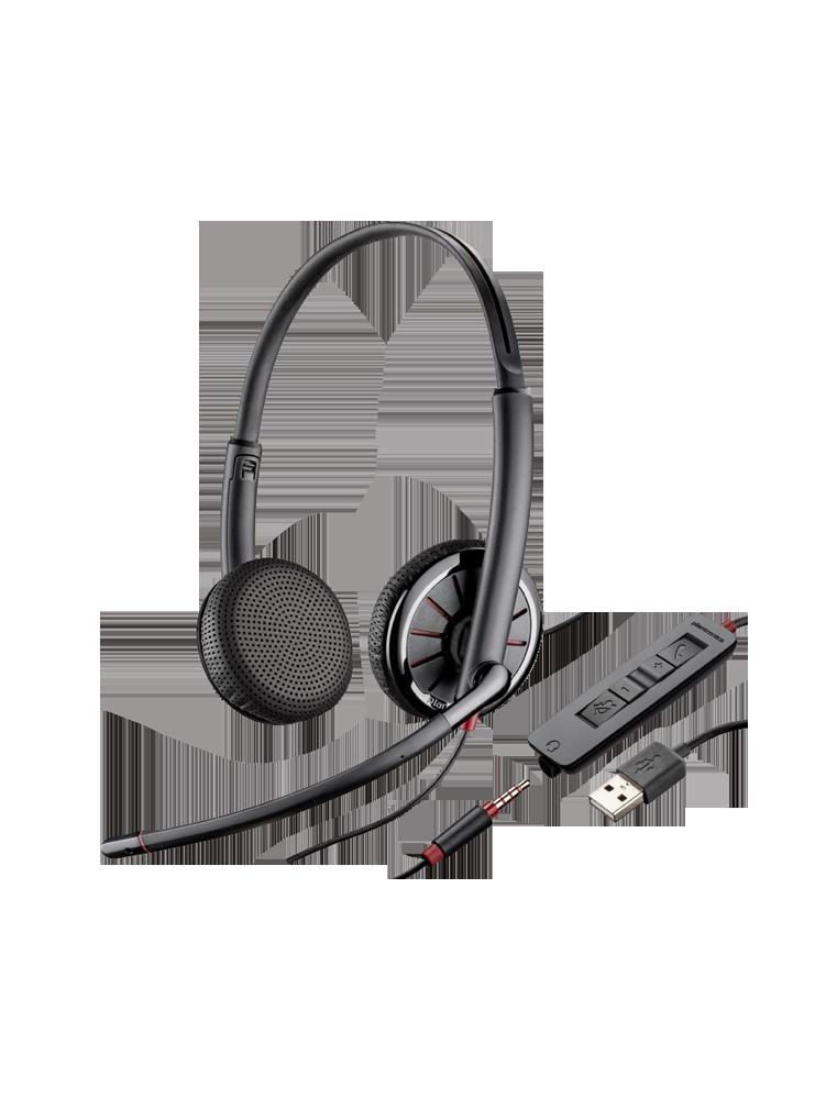 Auricular Plantronics Blackwire C325-M Dúo