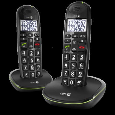 Teléfono Doro PhoneEasy 110 Dúo Negro