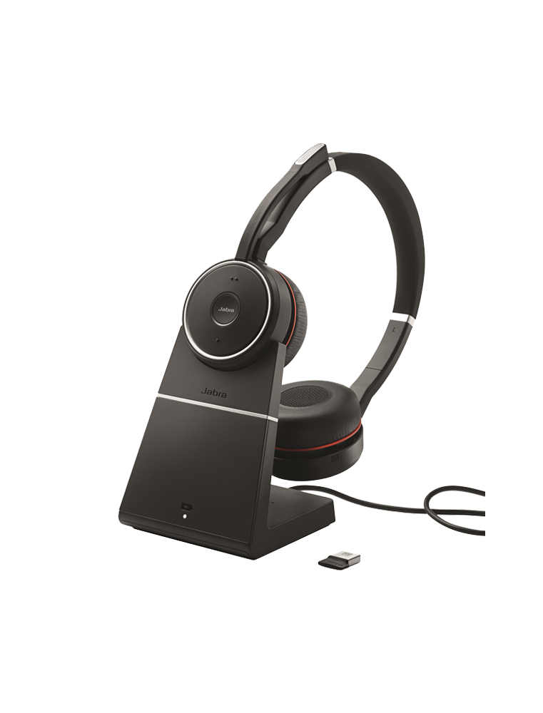 Auricular Jabra EVOLVE 75 MS Dúo + Base Descolgadora