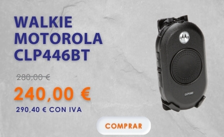 Oferta Walkie Motorola CLP446 Bluetooth